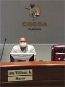 Mayor Jake Williams, Jr. wearing a face mask