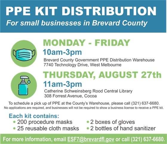 PPE Kit Distribution for small businesses in Brevard County