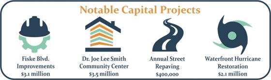 Notable capital projects graphic for the fiscal year 2019 budget
