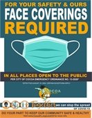 Face Coverings Required Sign
