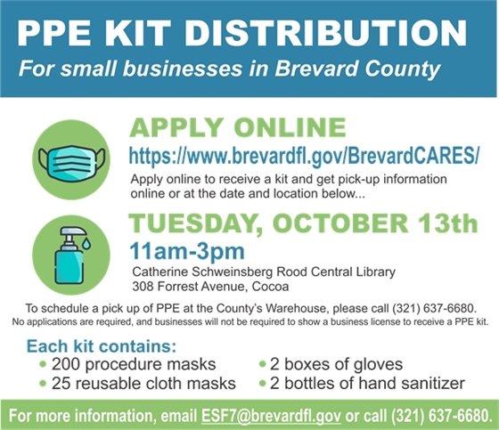PPE Kit Distribution Apply online at brevardfl.gov/brevardcares