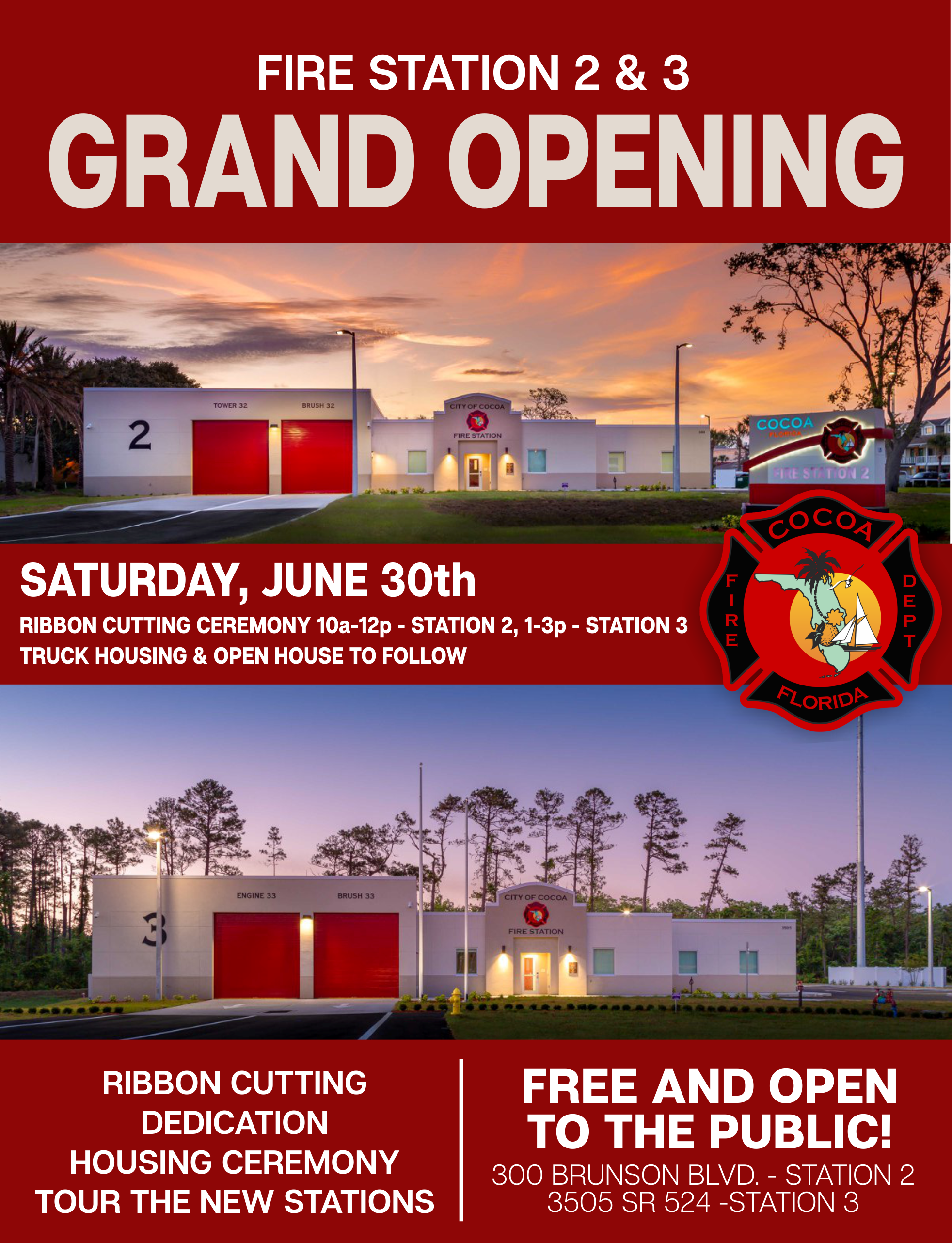 Cocoa fl official website fire station 2 and 3 invitation to grand opening events stopboris Gallery