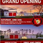 Fire Station 2 and 3 invitation to Grand Opening events