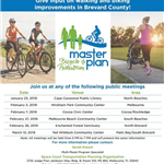 Space Coast Transportation and Planning Organization's list of public meetings for the Bicycle &