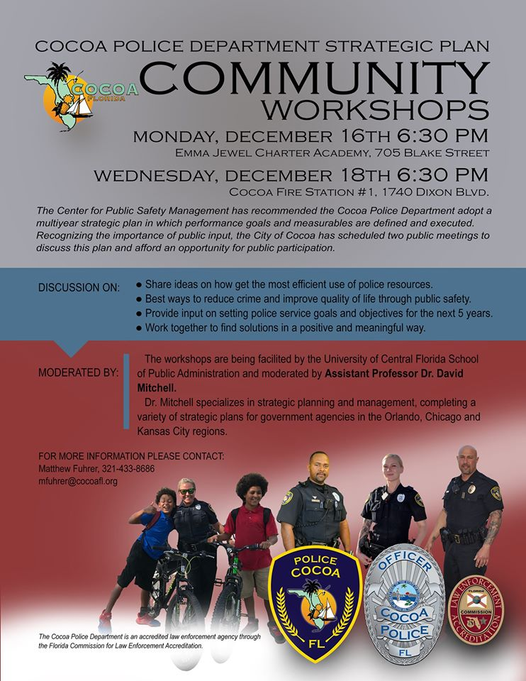 Cocoa Police Department Strategic Plan flyer
