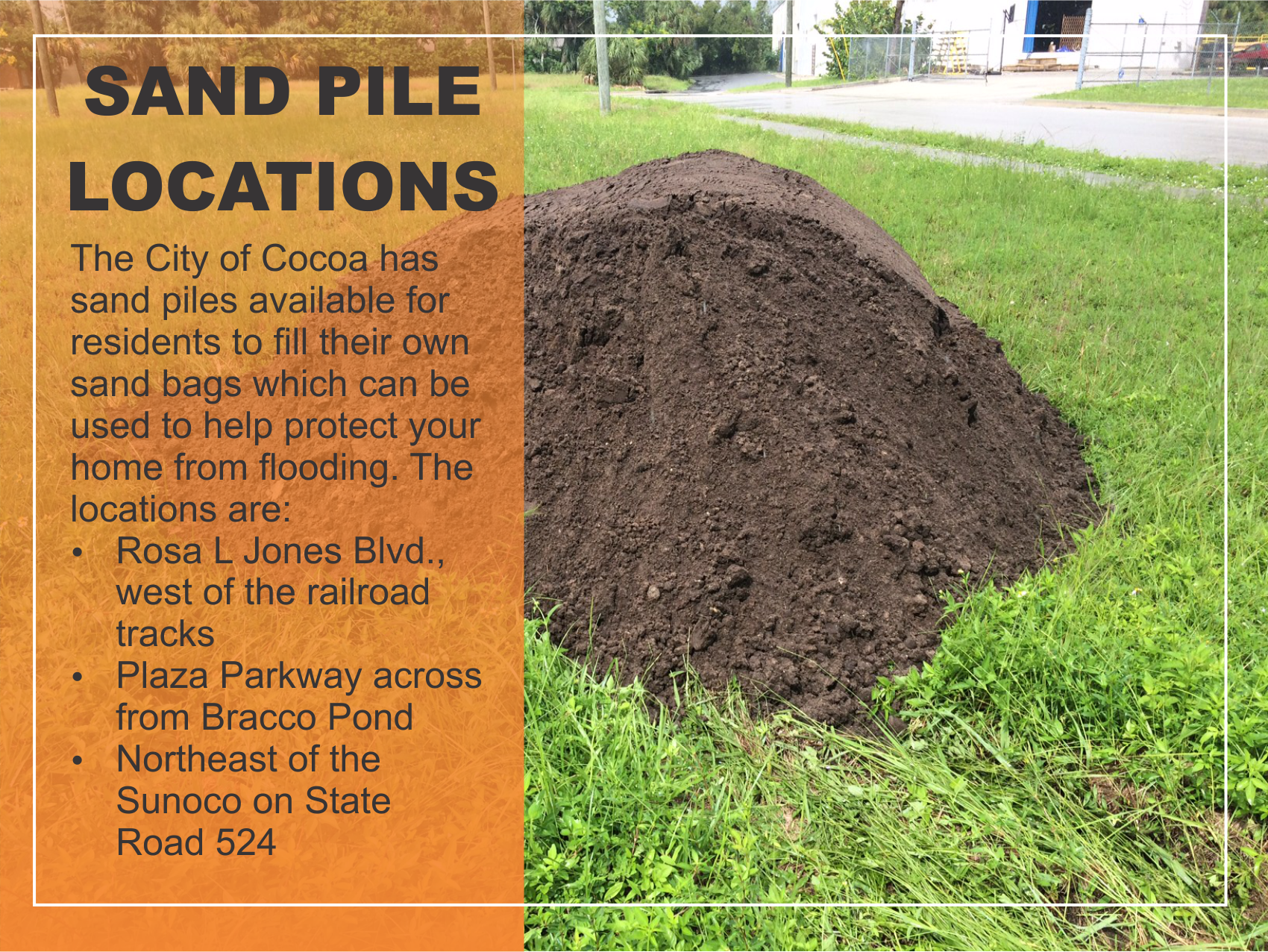 sand piles locations