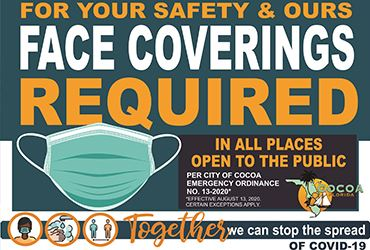 For your safety and ours face coverings required in all places to the public.