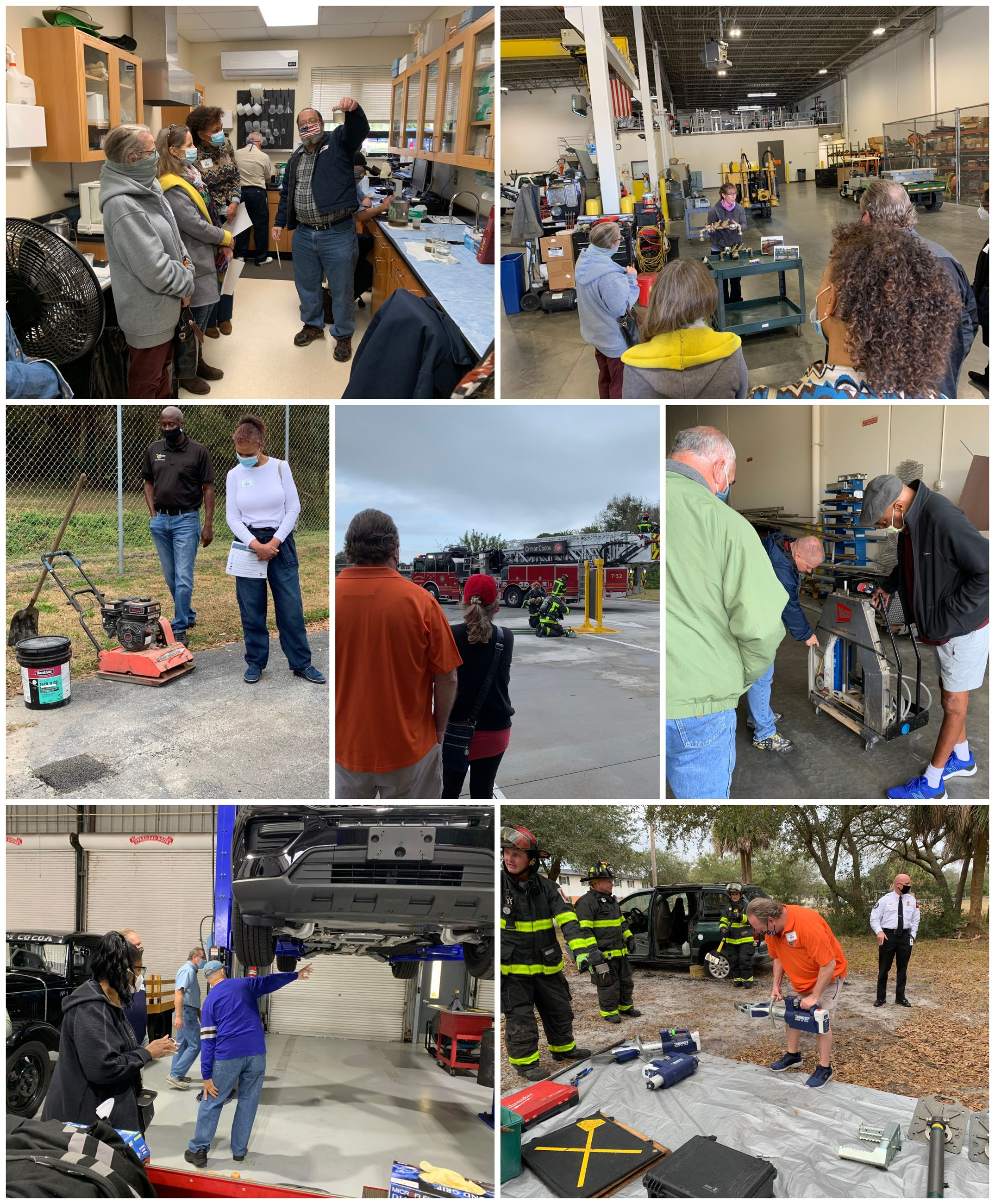 Citizens Academy photos at various city locations