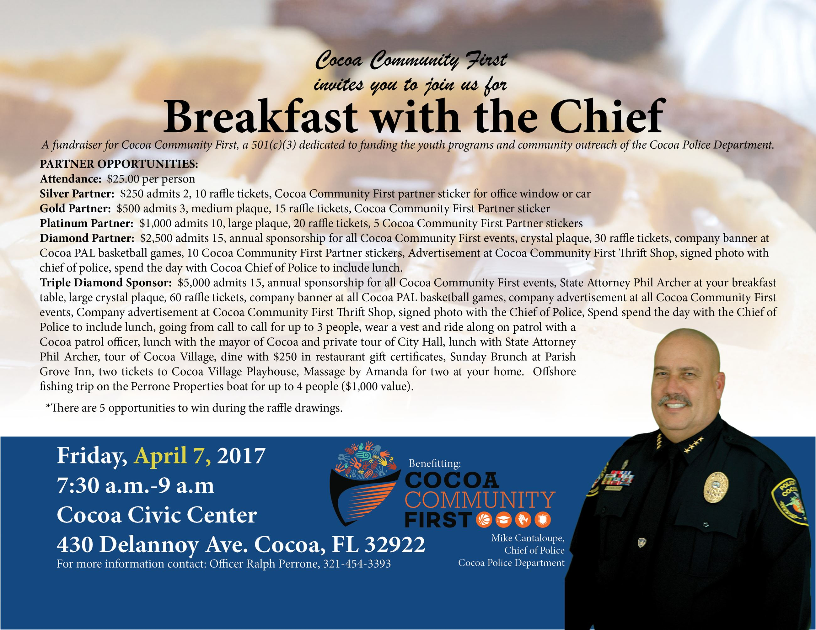 breakfast invite and sponsor opportunities