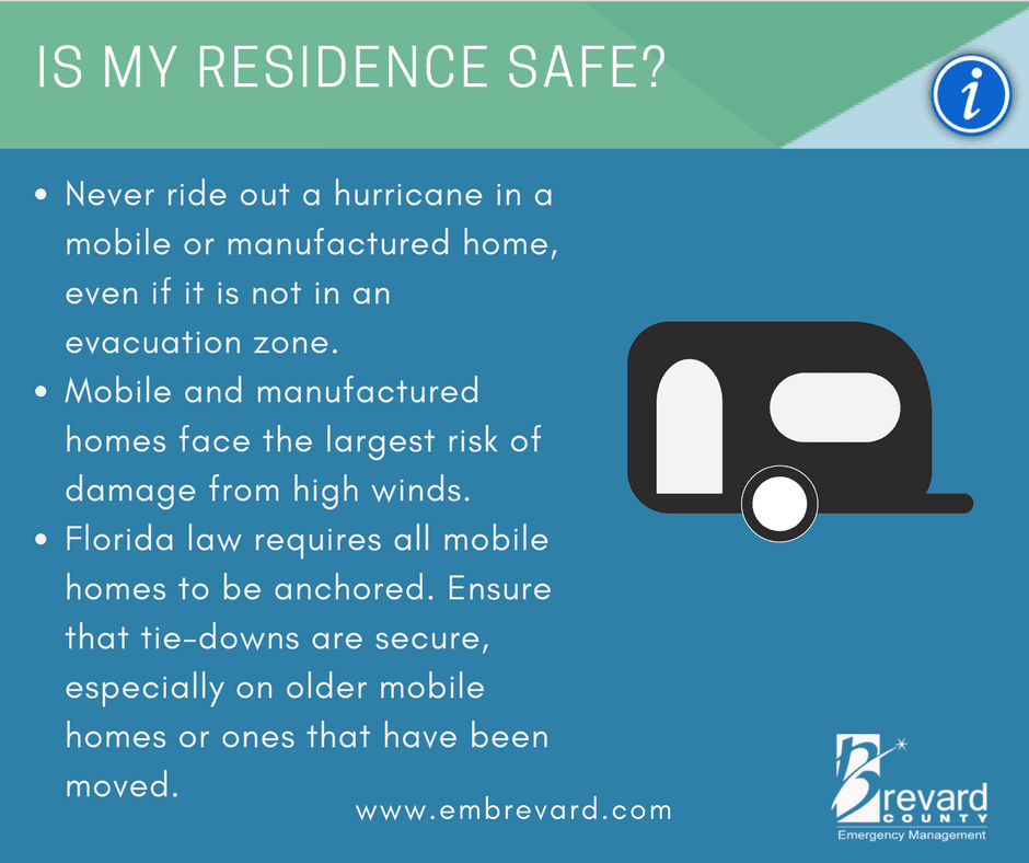 SAFE RESIDENCE: do not ride out a storm in a mobile or manufactured home.