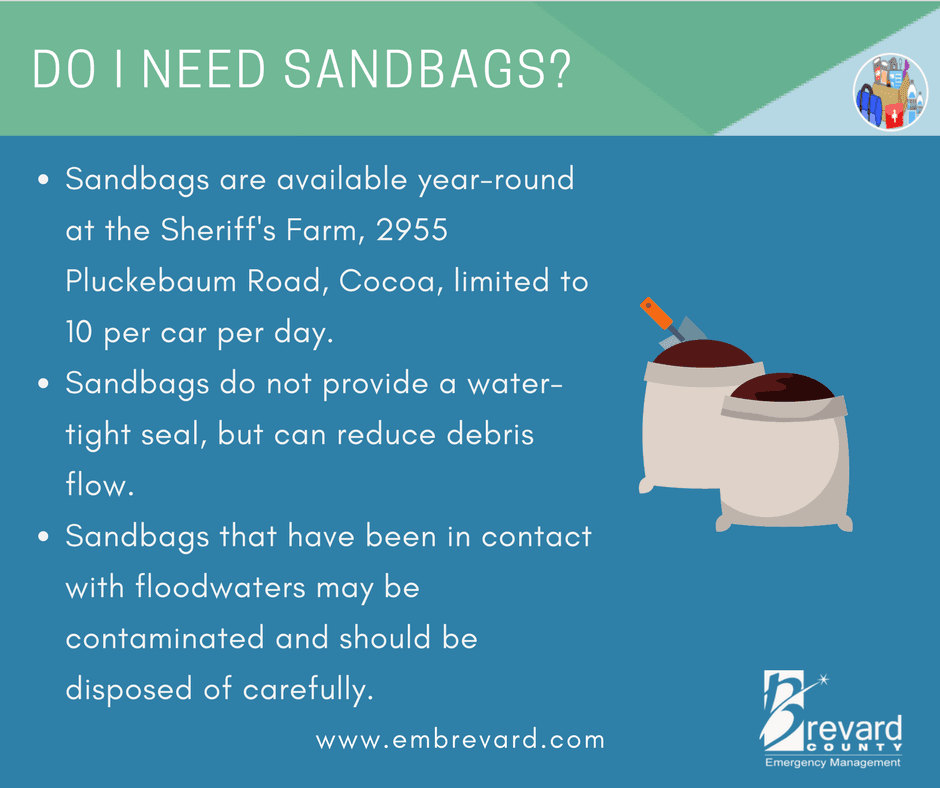 SAND BAGS: sandbags do not provide a water tight seal but can reduce debris flow