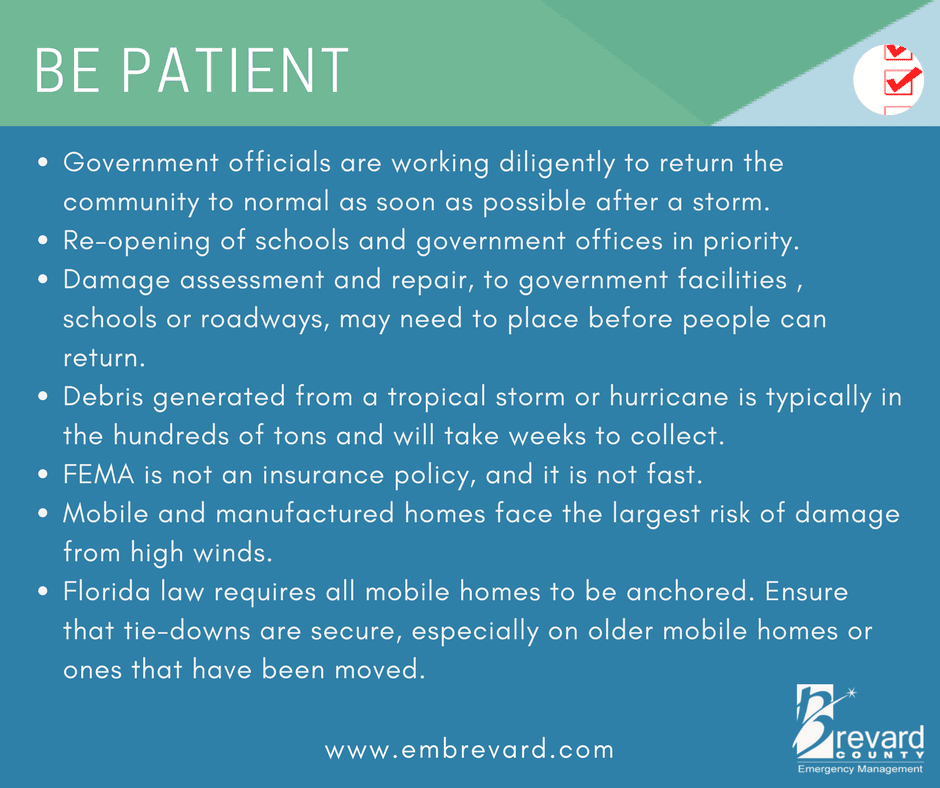 Be patient: government officials are working diligently to return the community back to normal