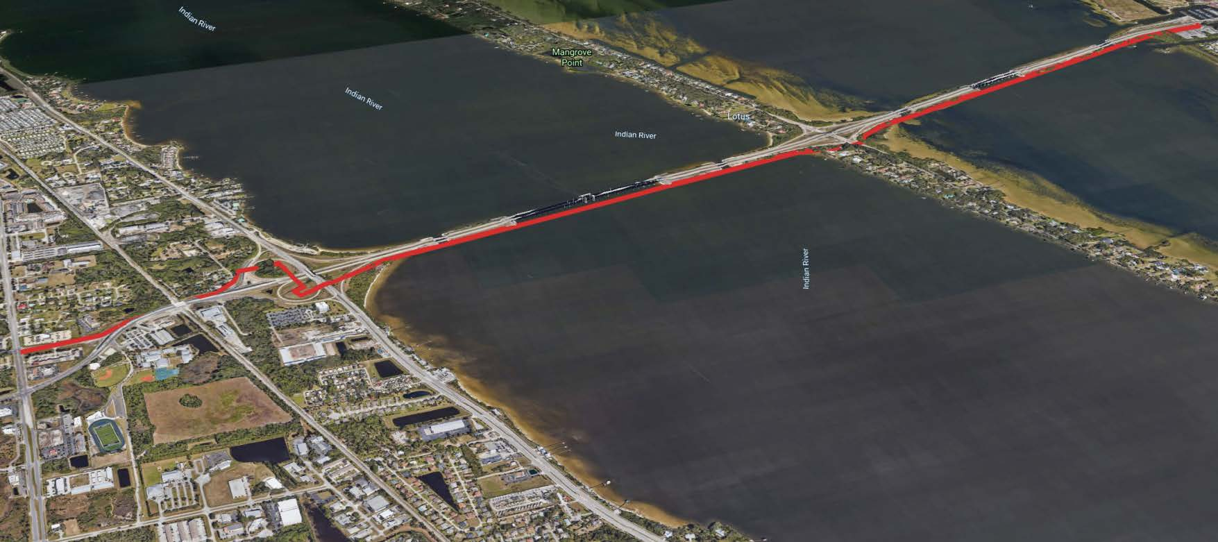 PIneda Causeway map