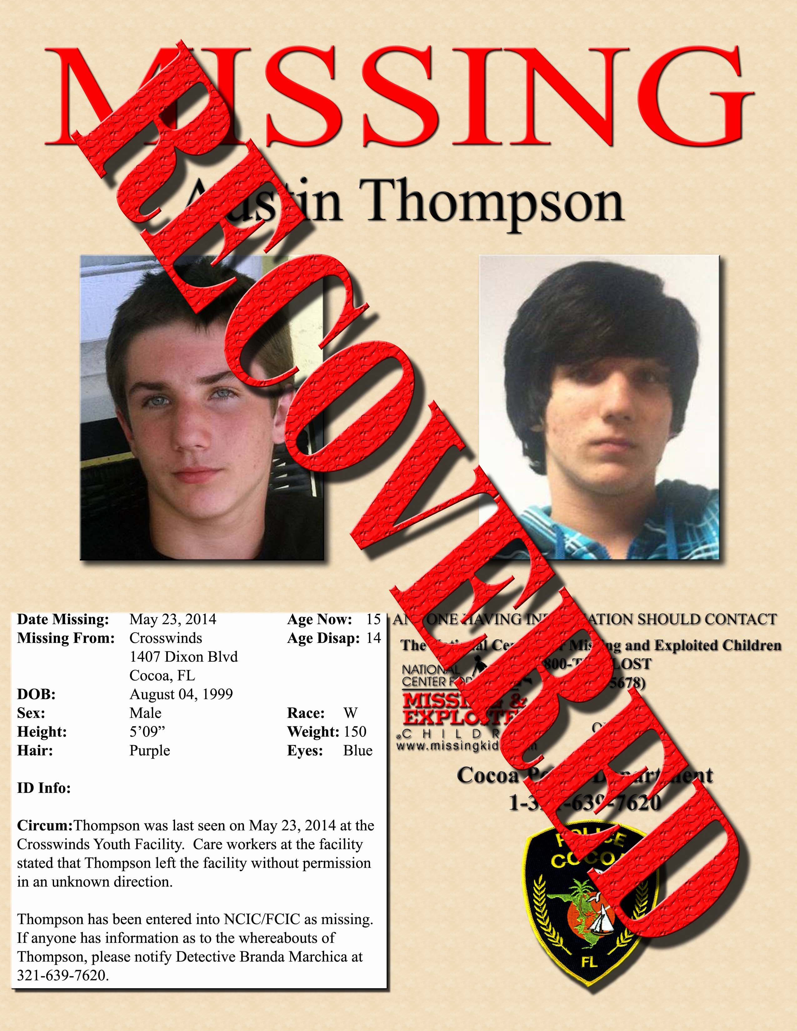 Recovered Flyer-A Thompson